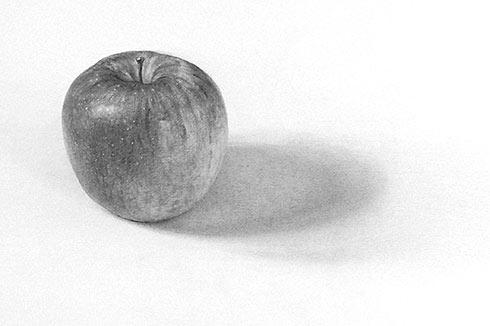 りんごを描く